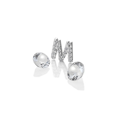 Anais Initial M Charm Sterling Silver