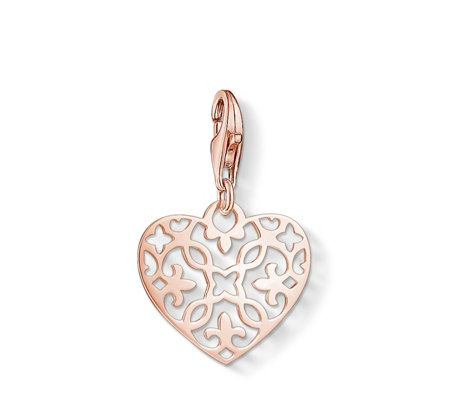 Thomas sabo charm club ornament heart pendant sterling silver qvc uk thomas sabo charm club ornament heart pendant sterling silver aloadofball