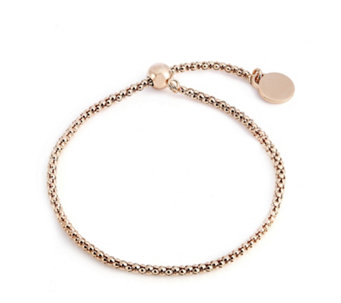 Bronzo Italia Adjustable Popcorn Slider Bracelet - 310416