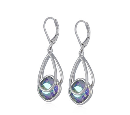 Aurora Swarovski Crystal Suspended Drop Earrings