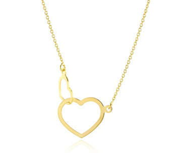 "9ct Gold Linked Hearts 18"" Necklace - 308917"