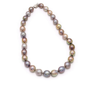 Honora 11-14mm Cultured Ming Pearl Necklace Sterling Silver - 310017
