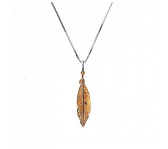 Azendi Spirited Away Feather 45cm Necklace Sterling Silver - 312017