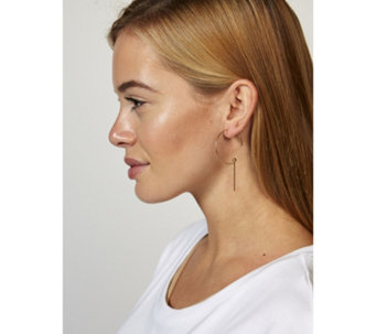Pilgrim Linear Drop Hoop Earrings - 312817
