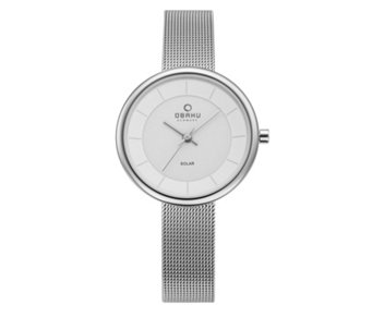 Obaku Ladies Lys Solar Mesh Strap Watch - 316017