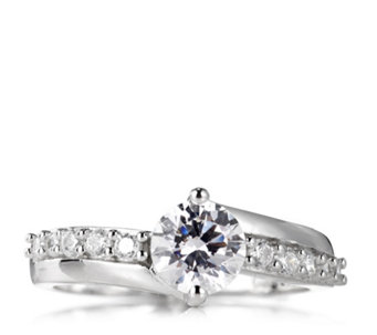 Diamonique 1.3ct tw Ring Sterling Silver - 317317