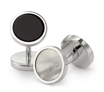 Charles Tyrwhitt Mens Mother Of Pearl Evening Cufflinks - 320317