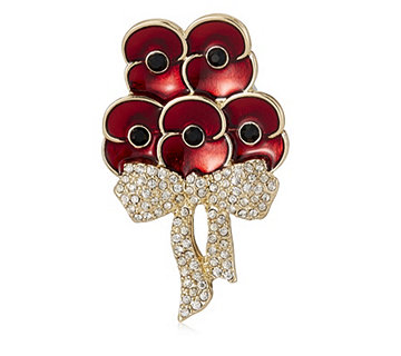 The Poppy Collection Elizabeth Bouquet Brooch by Buckley London - 304918