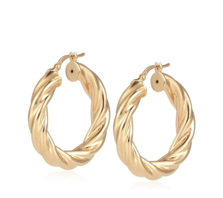 Bronzo Italia Twist Hoop Creole Hoop Earrings