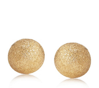 9ct Gold Sparkle Finish 8mm Stud Earrings with Flock Bauble - 312618