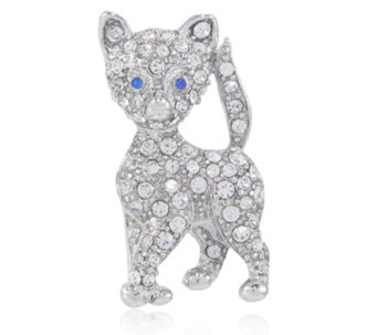 Bill Skinner Crystal Pave Cat Brooch - 305919
