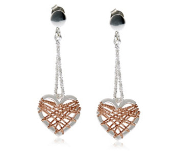 Links of London Dream Catcher Heart Drop Earrings Sterling Silver - 307119
