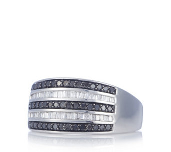 0.5ct Diamond Band Ring Sterling Silver - 306420