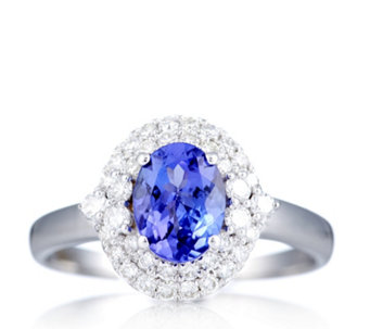 1.2ct AAAA Tanzanite & 0.5ct Diamond Solitaire Ring 18ct Gold - 306920