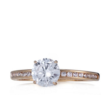 Diamonique 1.2ct tw Solitaire Ring 9ct Gold - 307620