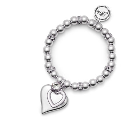 Bibi Bijoux Double Heart Tag Ball Bracelet