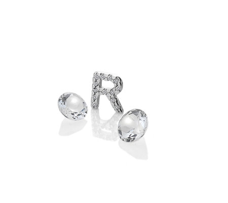 Anais Initial R Charm Sterling Silver