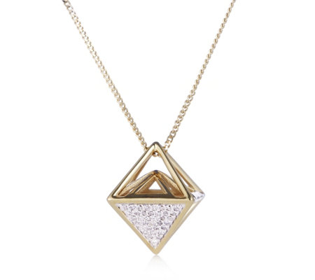 Lisa Snowdon 3D Triangle Pendant & Chain Gold Vermeil Sterling Silver