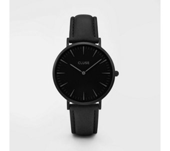 Cluse La Boheme Black Leather Strap Watch - 317121
