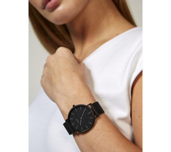 Cluse La Boheme Black Mesh Strap Watch - 317122