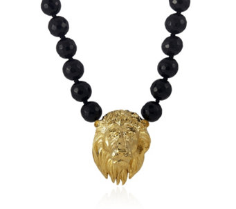 Bill Skinner Beaded 44cm Necklace with Animal Head Pendant - 304823