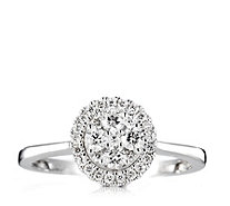 0.5ct Diamond Round Cluster Ring 9ct Gold - 320223
