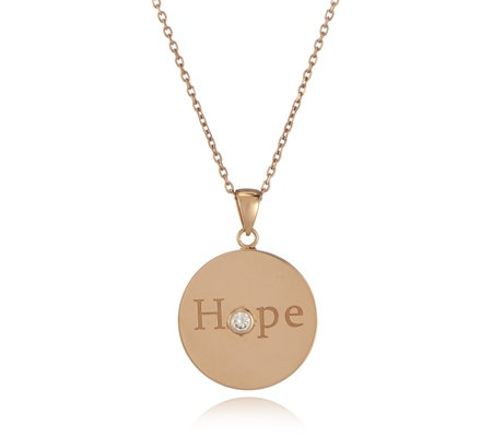 K by Kelly Hoppen Breast Cancer Care Pendant & 70cm Chain Rose Gold Plated