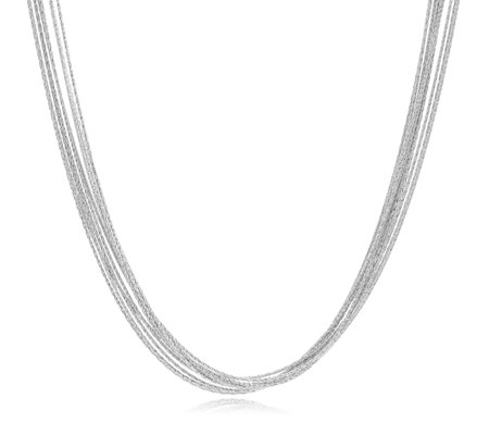 Links of London Essentials Silk 10 Row 45cm Necklace Sterling Silver