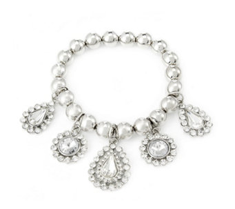 Frank Usher Crystal Drop Stretch Bracelet - 305325