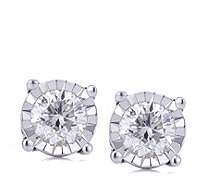 0.5ct Classic Diamond Solitaire Stud Earrings 9ct Gold - 307725