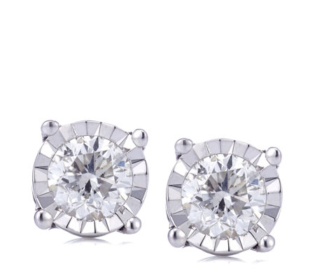 0.5ct Classic Diamond Solitaire Stud Earrings 9ct Gold