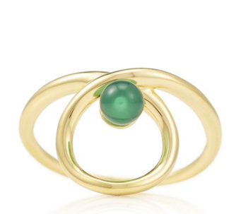 Links of London Serpentine Green Chalcedony Ring Sterling Silver - 312525