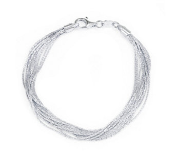 Links of London Essentials Silk 10 Row 17cm Bracelet Sterling Silver - 311226