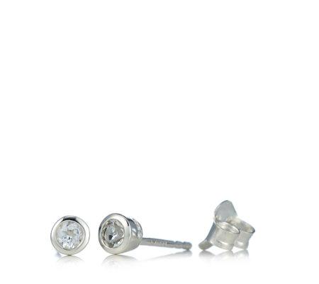 Links Of London Bella White Topaz Stud Earrings Sterling Silver