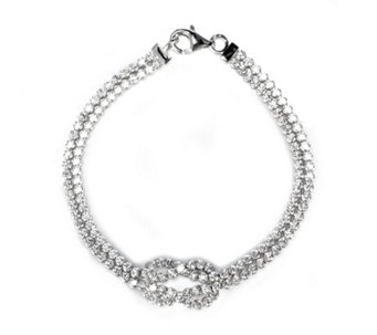 Diamonique 9.2ct tw Knot Bracelet Sterling Silver - 306627
