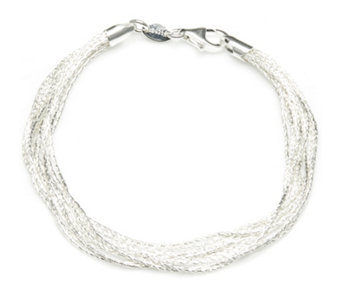 Links of London Essentials Silk 10 Row Bracelet Sterling Silver - 309427