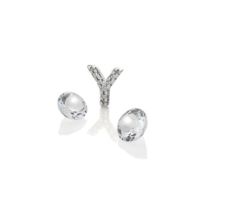 Anais Initial Y Charm Sterling Silver