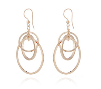 Bronzo Italia Interlinked Circles Drop Earrings - 312627
