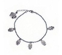 Butler & Wilson 5 Crystal Beaded Bracelet with Extender - 303728