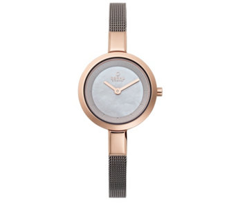Obaku Ladies Steel Mesh Strap Watch - 316128