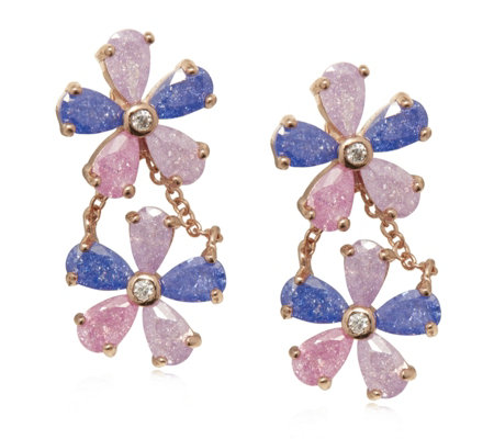Butler & Wilson Crystal Flowers Earrings