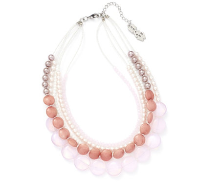 Butler & Wilson Faux Pearl & Glass Bead 41cm Necklace with 6cm Extender