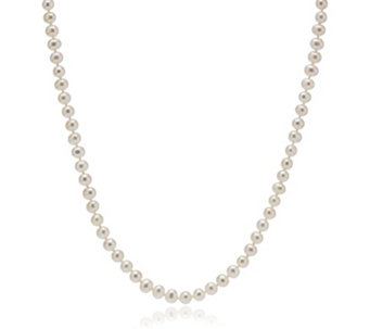 Honora 5-6mm Cultured Classic Pearl 45cm Necklace Sterling Silver - 310029