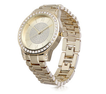 Gossip Gold Tone Pave Crystal Dial Watch - 310329