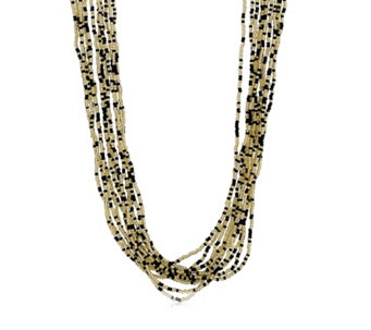 Murano Glass Fluidity 50cm Multi-Strand Necklace Sterling Silver - 307530
