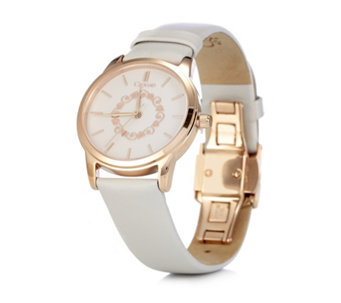 Clogau 9ct Rose Gold & Stainless Steel Watch with Leather Strap - 308130