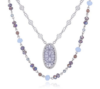 Lonna & Lilly Nested Crystal Pendant 2 in 1 107cm Necklace - 308930