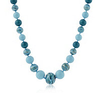 """As Is"" Murano Glass Premium Graduated Orb 51cm Necklace - 309830"