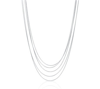 Links of London Essentials Silk 5 Row 80cm Necklace Sterling Silver - 311230