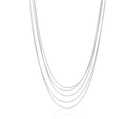 Links of London Essentials Silk 5 Row 80cm Necklace Sterling Silver